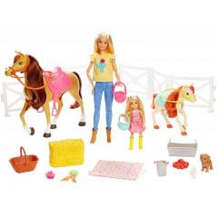 Barbie - Stadnina koni - Zestaw z lalkami FXH15