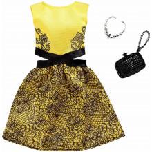 Barbie - Modne kreacje - Żółta sukienka FXJ08