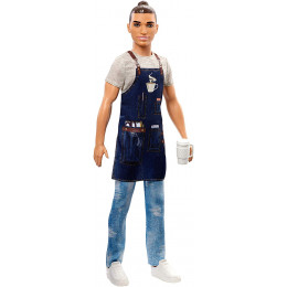 Barbie - Możesz być kim chcesz - Ken Barista - Lalka FXP03