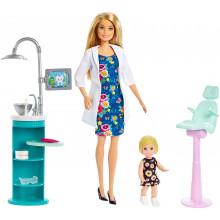 Barbie - Możesz być kim chcesz - Lalka Dentystka FXP16