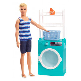 Barbie - Ken - Domowe obowiązki - Pranie FYK52