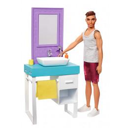 Barbie - Ken i golenie zarostu - Lalka, mebelki i akcesoria FYK53
