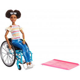 Barbie Fashionistas - Modna Lalka nr 133 - Barbie na wózku inwalidzkim - GGV48