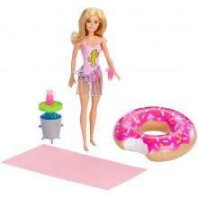 Barbie – Lalka z akcesoriami basenowymi GHT20