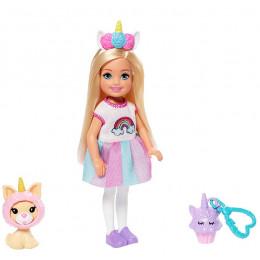Barbie - Club Chelsea – Lalka w stroju jednorożca + akcesoria – GHV70