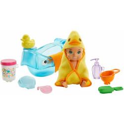 Barbie - Opiekunka Skipper - Dziecko z akcesoriami do kąpieli - GHV84