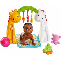 Barbie - Opiekunka Skipper - Raczkujące dziecko z akcesoriami - GHV85