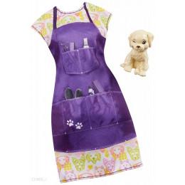 Barbie – Ubranka kariera dla Barbie – Psi fryzjer groomer z pieskiem – FND49 GHX37