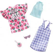 Barbie – Ubranka dla Barbie – Sukienka oversize w truskawki – GHX61