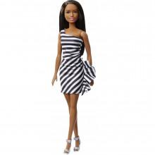 Barbie - Lalka 60. rocznica - Sukienka w paski GJF86