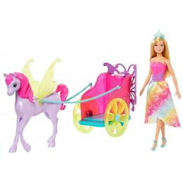 Barbie Dreamtopia – Zestaw Księżniczka, Pegaz i Rydwan – GJK53