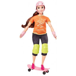 Barbie - Lalka Olimpijka - Skateboarding - GJL78