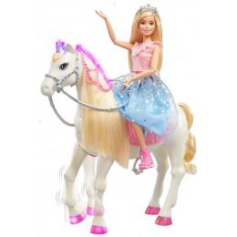 Barbie Princess Adventure – Koń ze światełkami i dźwiękami + lalka – GML79