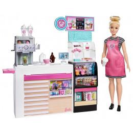 Barbie - Kawiarenka + zestaw z lalką i akcesoriami – GMW03