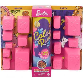 Barbie Color Reveal - Kolorowa Niespodzianka - Plaża/ Impreza - GPD55