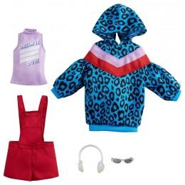 Barbie – Ubranka dla Barbie – Niebieska bluza w panterkę – GRC86