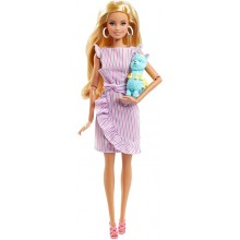 Barbie – Lalka kolekcjonerska – Tiny Wishes – Lalka z figurką lamy – GNC35