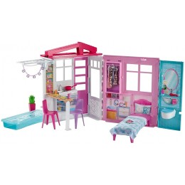 Barbie – Przytulny domek z wyposażeniem FXG54