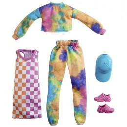 Barbie – Ubranka dla Barbie – Zestaw z tęczowym dresem – GRC84