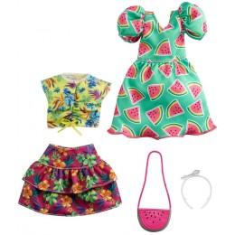 Barbie – Ubranka dla Barbie – Zestaw z sukienką w arbuzy – GRC85