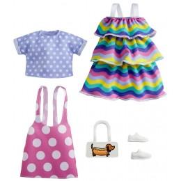 Barbie – Ubranka dla Barbie – Zestaw z tęczową sukienką – GRC87