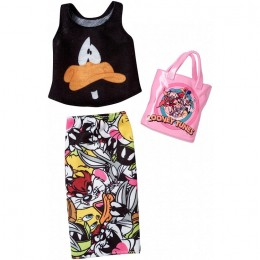 Barbie – Ubranka dla Barbie – Komplet Looney Tunes Daffy Duck – FKR66 FXK69