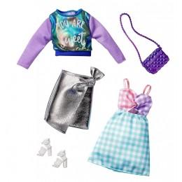 Barbie – Ubranka dla Barbie – Zestaw z tęczową bluzą – FKT27 GHX62