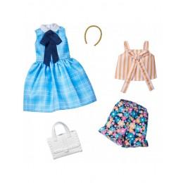 Barbie – Ubranka dla Barbie – Zestaw z niebieską sukienką w kratkę – FKT27 GHX65