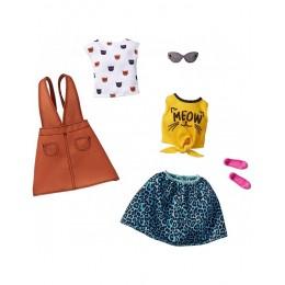 Barbie – Ubranka dla Barbie – Zestaw z bluzką w koty – FKT27 GHX66