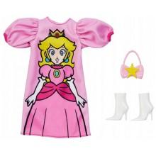 Barbie – Ubranka dla Barbie – Sukienka Super Mario księżniczka Peach – FKR66 GHX97