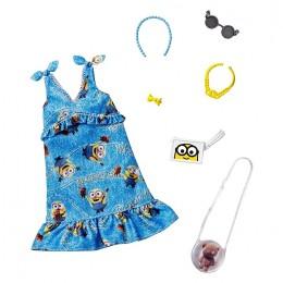 Barbie – Ubranka dla Barbie – Sukienka Minionki z akcesoriami – GJG28 GJG40