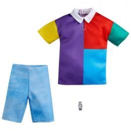 Barbie – Ubranka dla Kena – Kolorowa koszula i krótkie jeansy – GWC31 GRC73