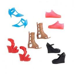 Barbie – Modne buty dla lalki – zestaw 5 par – GXG02