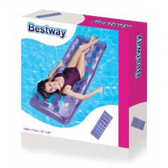 Bestway - Dmuchany materac z poduszką - Fioletowy 43015