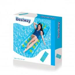 Bestway - Dmuchany materac z poduszką - Niebieski 43015