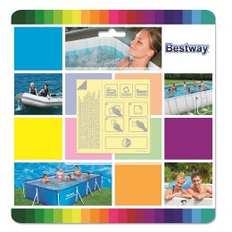 Bestway - Zestaw naprawczy z łatkami wodoodpornymi 10szt. - 62091