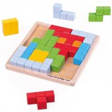 BigJigs – Drewniany tetris Pattern Blocks 33019