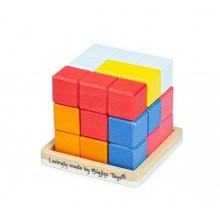 BigJigs – Drewniana układanka logiczna Lock-a-Cube 33020