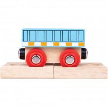 BigJigs - Pociąg drewniany – Niebieski wagon - BJT483