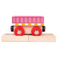 BigJigs - Pociąg drewniany – Różowy wagon - BJT484