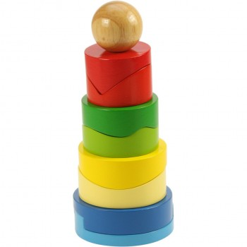 BigJigs BB033 Rozkładana wieża z okrągłych klocków