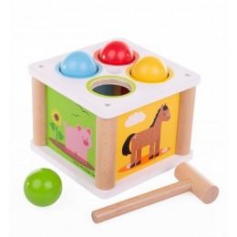 BigJigs – Tap Tap Ball – Przebijanka ze zwierzątkami BB551