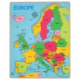BigJigs - Drewniana mapa Europy - Układanka BJ048