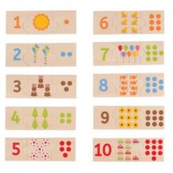 BigJigs - Cyferki i liczenie - Drewniane puzzle BJ261