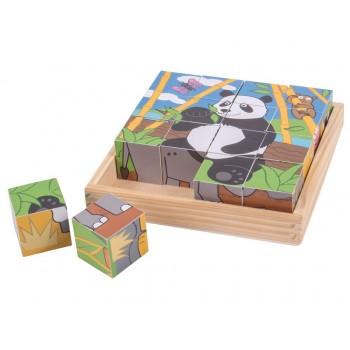 BigJigs - Puzzle Klocki - Dzikie zwierzęta BJ263