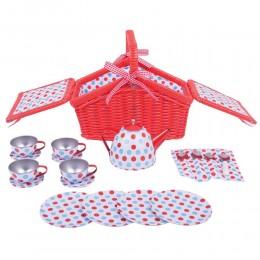 BigJigs BJ630 Zestaw piknikowy w czerwonym koszyku