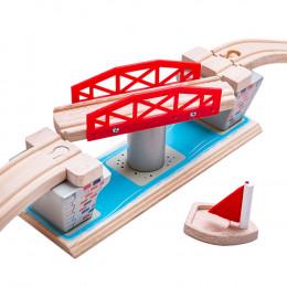 BigJigs - Most obrotowy - Dodatek do kolejki drewnianej BJT125