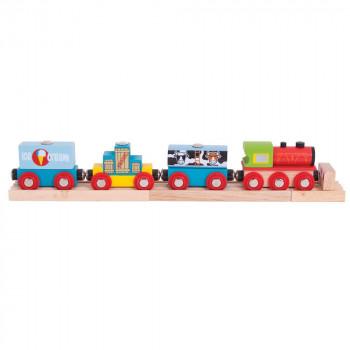 Pociąg z produktami spożywczymi BigJigs BJT181