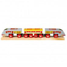 BigJigs - Pociąg ekspresowy Bullet - Drewniana kolejka BJT420