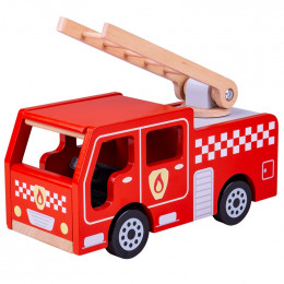BigJigs - Drewniany wóz strażacki - JT131